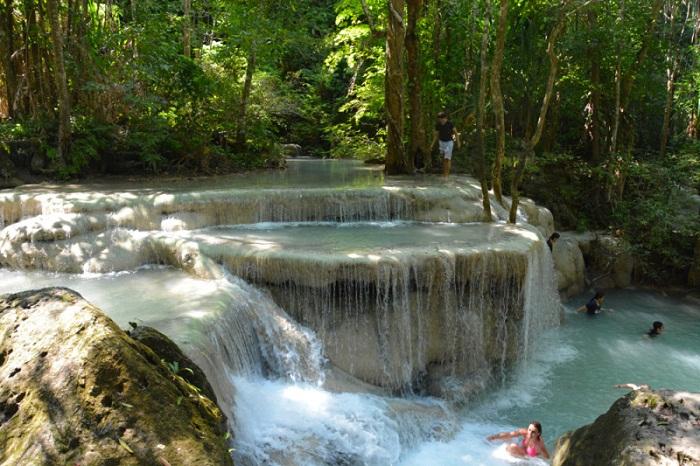 Thác nước tuyệt đẹp tại vườn quốc gia Erawan, kinh nghiệm du lịch Kanchanaburi