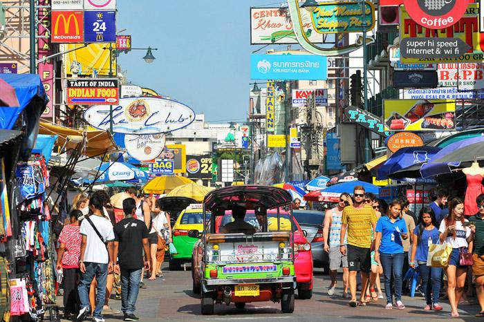 Tuyến đường Khao San Road tấp nập, bản đồ du lịch bangkok