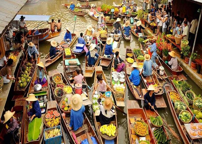 Chợ nổi 4 miền Pattaya Thái Lan, kinh nghiệm đi Pattaya tự túc