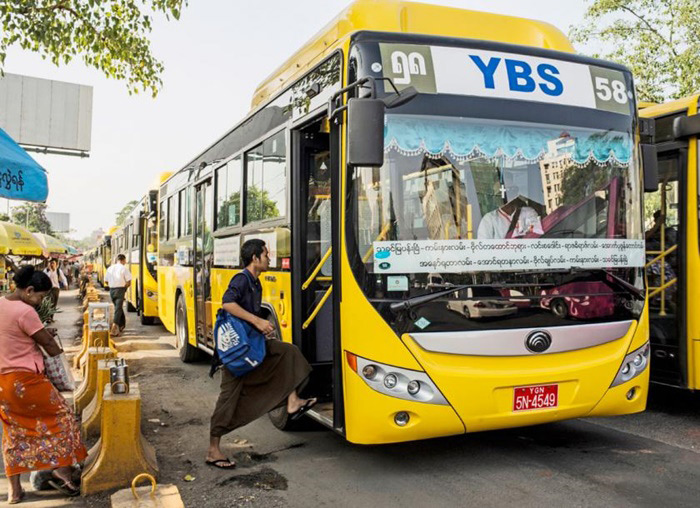 Xe bus là phương tiện di chuyển nhanh và rẻ ở Myanmar