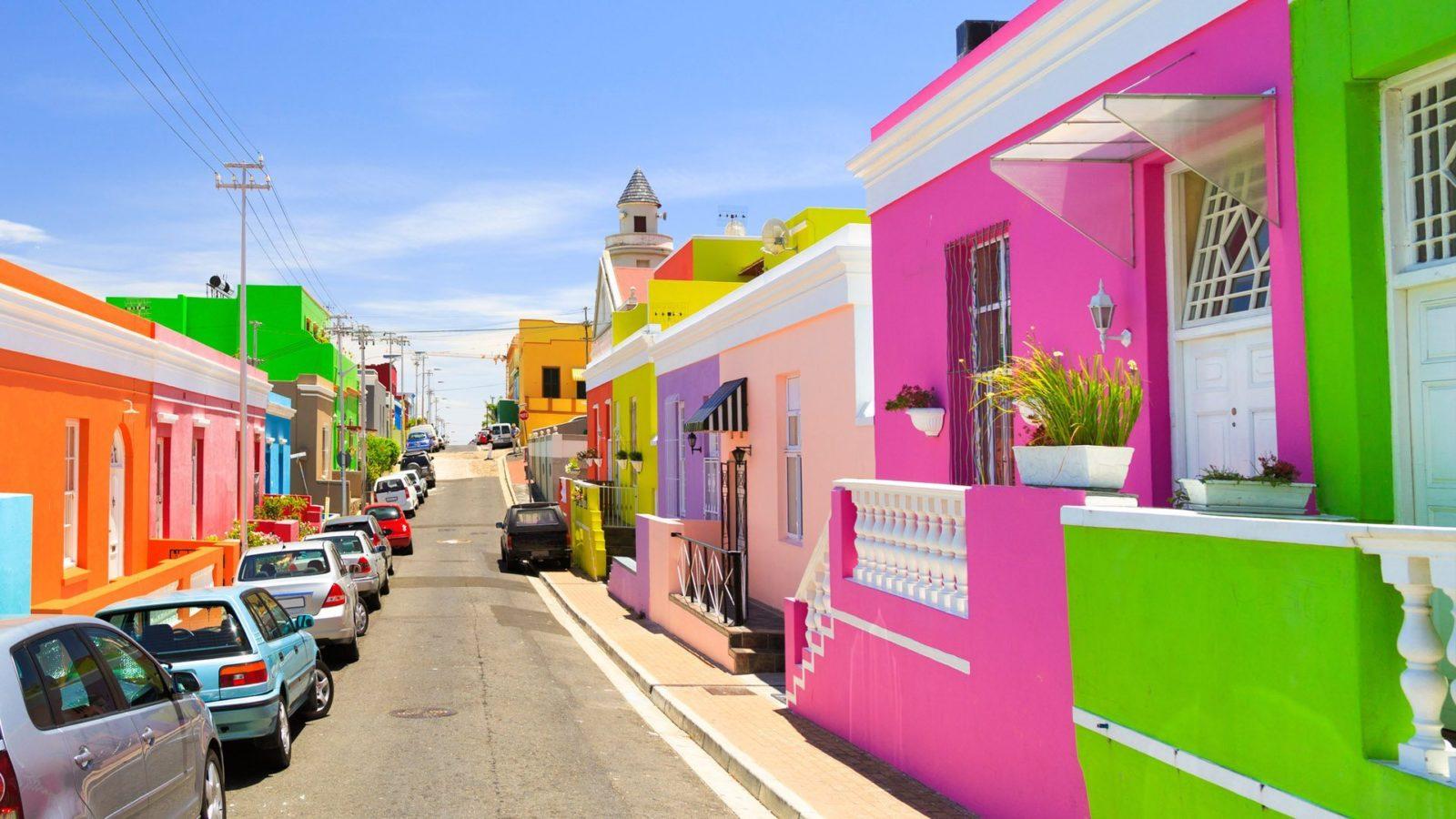 Khu phố Bo Kaap với những căn nhà rực rỡ sắc màu