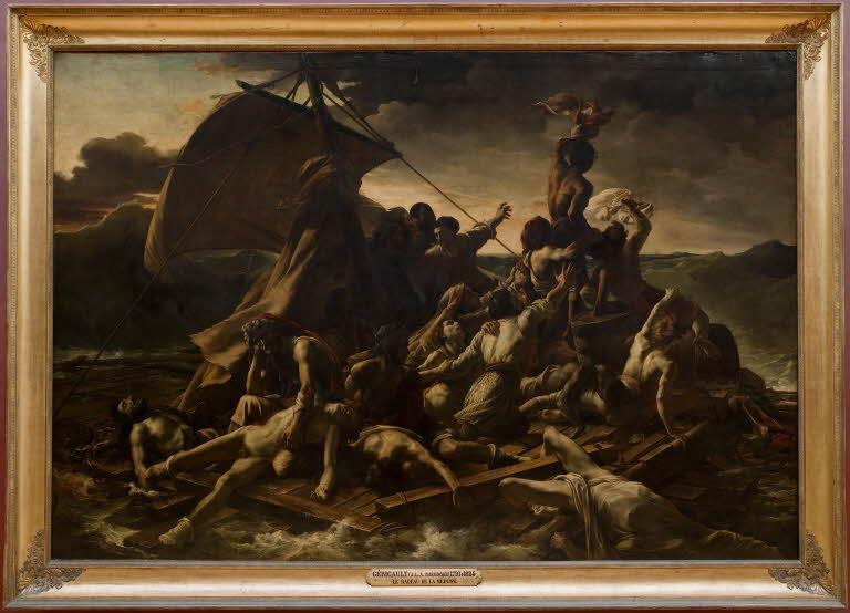 """Bức tranh sơn dầu """"Chiếc bè của chiến thuyền Medusa"""""""