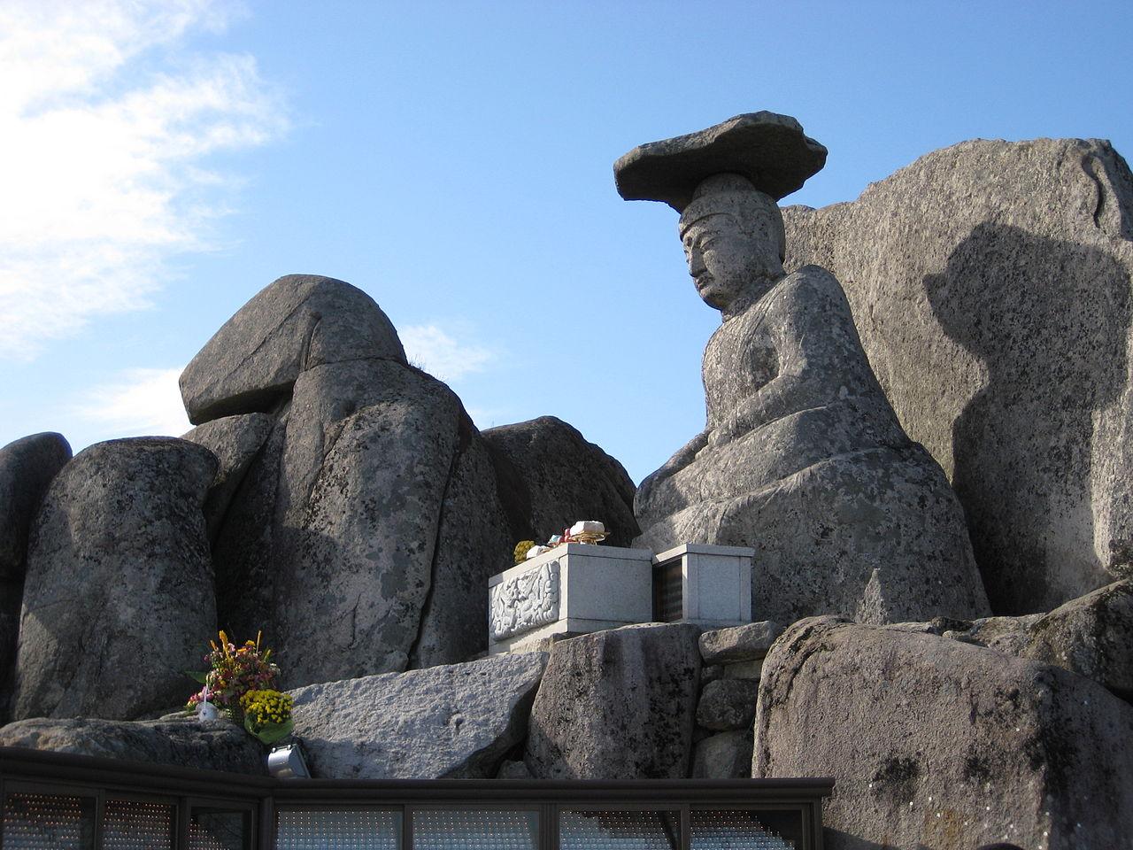 Bức tượng Phật Gatbawi tại chùa Seonbon